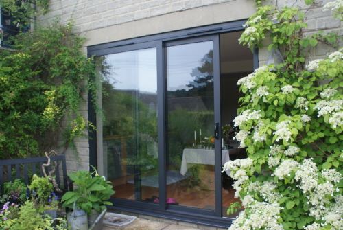 Matt Black Aluminium Patio Doors