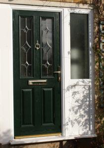 Composite Door with Sideframe Stroud