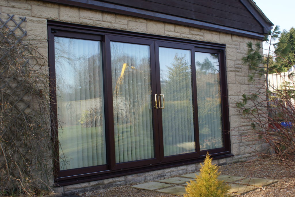Rosewood 4 panel Sliding Patio Doors Cheltenham