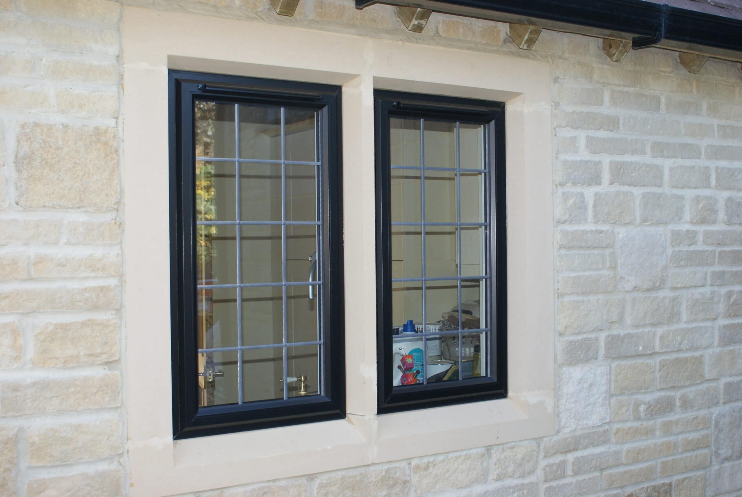 Alitherm Aluminium Casements in Stone Mullions Cirencester