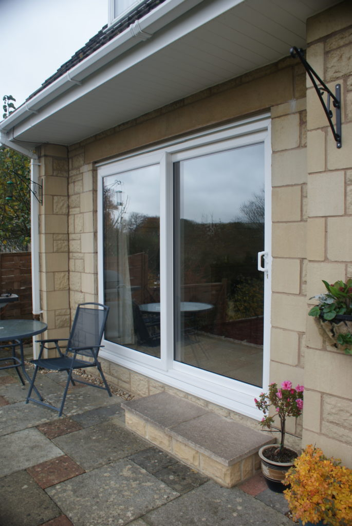 White UPVC Sliding Patio Doors