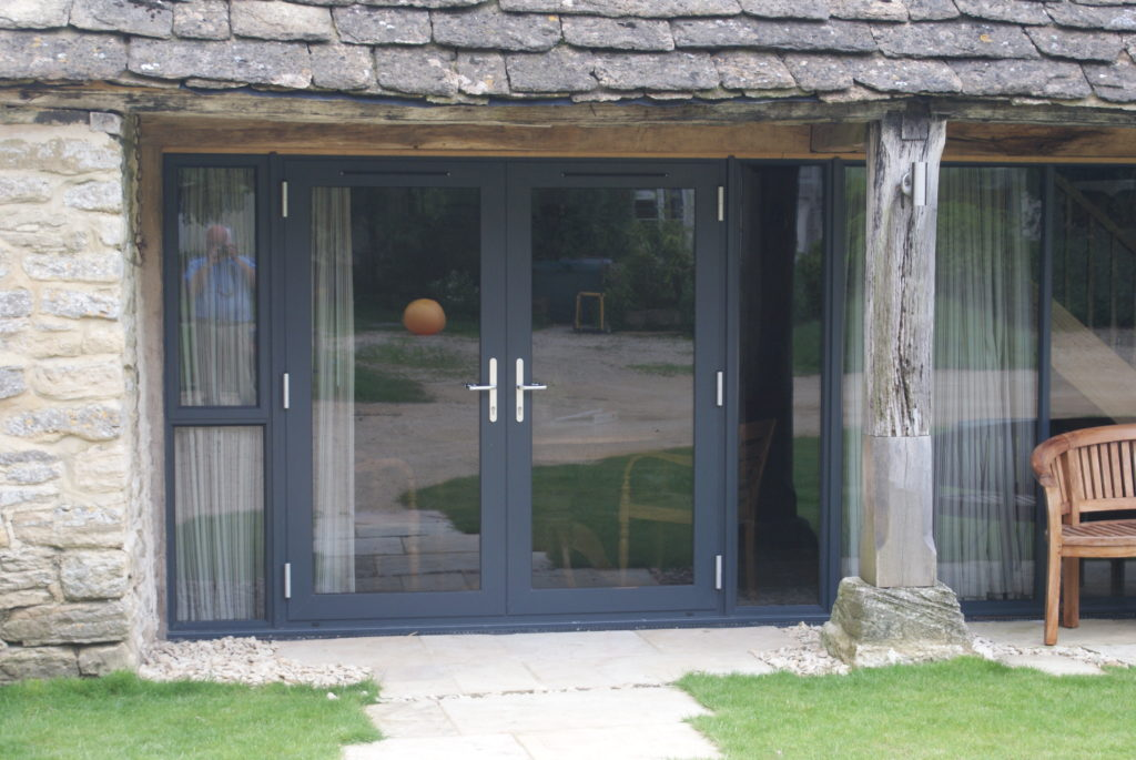 Alitherm Aluminium French Doors in Anthracite Grey