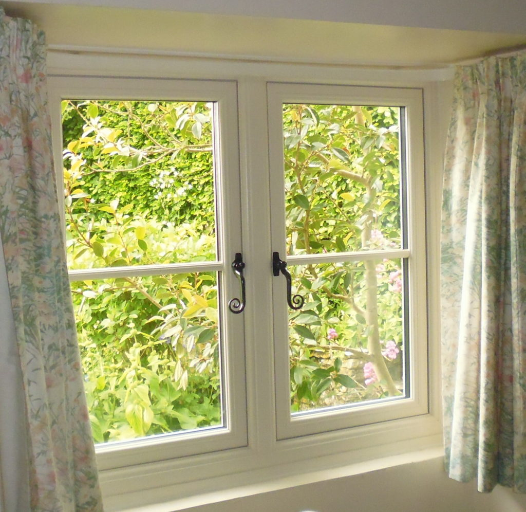 Flush Sash Window with Traditional Monkeytail Handles