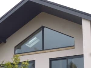Shaped Aluminium Gable Window