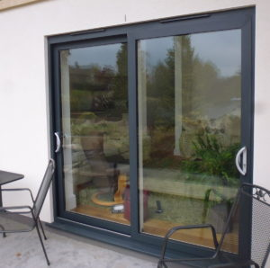 Two Panel Aluminium Patio Doors installed in Stroud