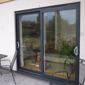 Two Panel Aluminium Patio Doors installed in Stroud