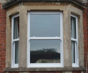 UPVC Sliding Sash in Bay Window